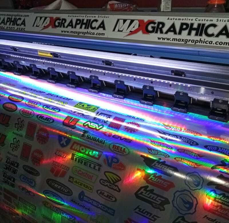 cetak stiker hologram maxgraphica cutting sticker sidoarjo